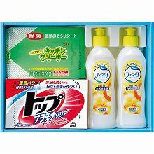 ●ハコ約28.5×20.5×5.5cm・重量=約1.2kg●ライオントップ300g・キッチンクリーナー20枚入×各1・ファンシア食器洗剤250ml×2●日本製