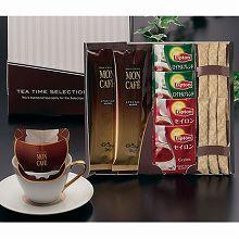 ●ハコ約20.8×20.5×2.2cm・重量=約142g●モンカフェスペシャルブレンド7.5g×2、リプトン紅茶(ロイヤルブレンド・セイロン)各2.2g×各2・シュガー5g×6